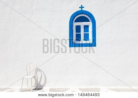 Fragment of church wall in Kos island, Greece