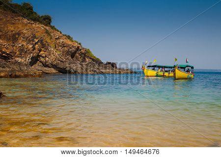 Boats On The Coast Of Goa, India