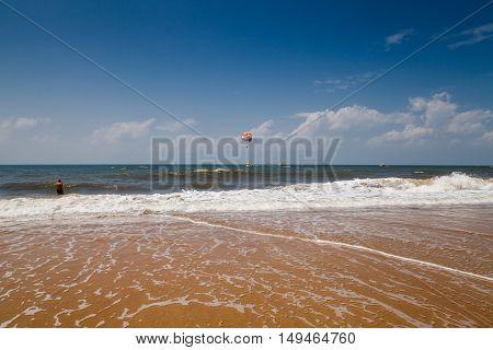 Beauty landscape, Candolim coast. Goa state, India