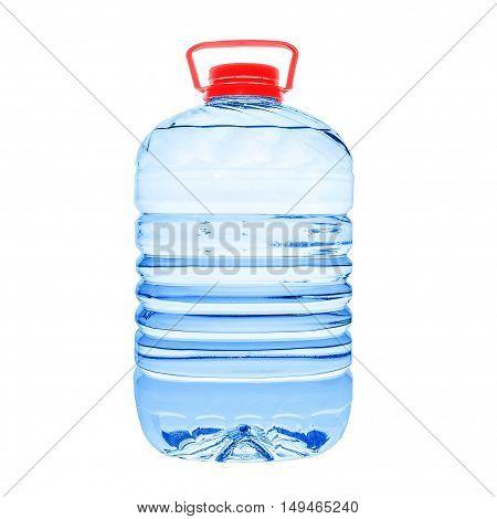 Big plastic water bottle isolated on white backgroud