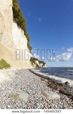 Famous chalk cliffs of Jasmund National Park, Ruegen, Germany
