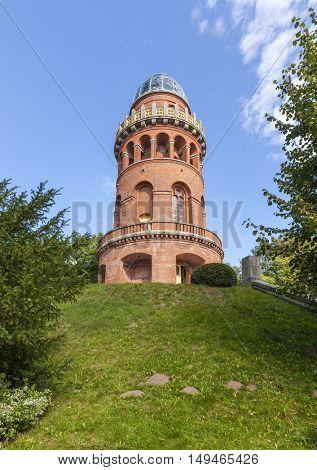 Ernst-Moritz-Arndt-Turm, observation tower at Bergen, Ruegen island, Germany