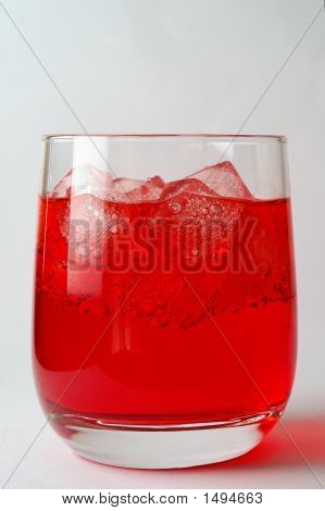 Glass Of Red Drink With Ice (1)