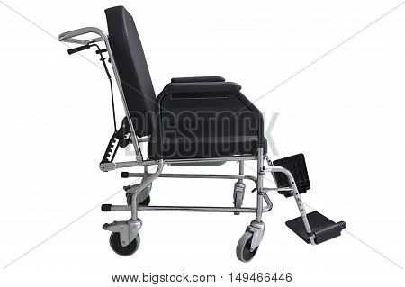 image of wheelchair isolated on white background