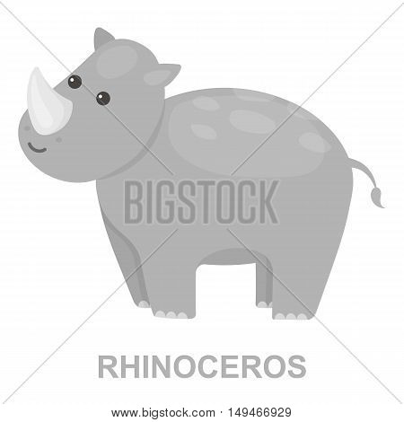 Rhinoceros icon cartoon. Singe animal icon from the big animals collection.