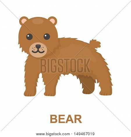 Bear icon cartoon. Singe animal icon from the big animals collection.