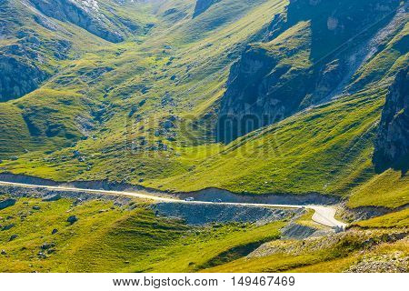 Landscape of Transalpina road in Parang Mountains Romania