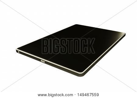 3d illustration of a modern tablet isolated on white background