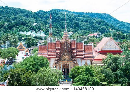 temple complex of Wat Chalong in Phuket Thailand