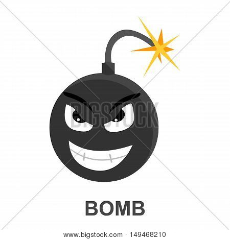 Bomb icon cartoon. Single PC icon from the big technology collection.