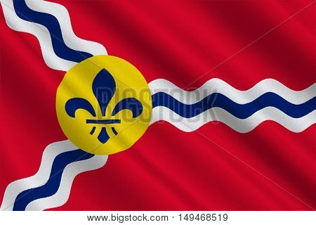 Flag of St. Louis is a city and port in Missouri state of United States