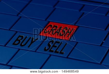 a pc keyboard and buy and sell buttons