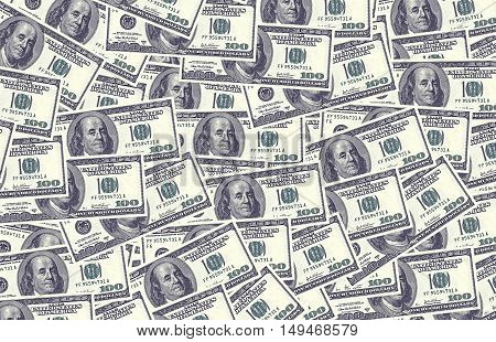 a view of us dollar money as background