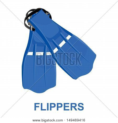 Flippers icon cartoon. Single sport icon from the big fitness, healthy, workout collection.