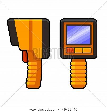 Thermal Imaging of Underfloor Heating Camera. Vector illustration