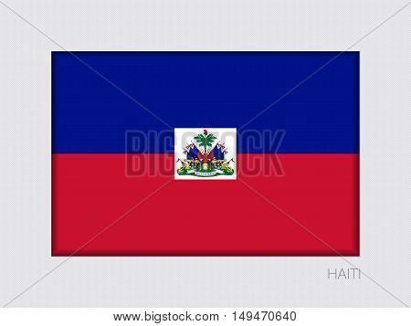 Flag Of Haiti. Rectangular Official Flag With Proportion 2:3