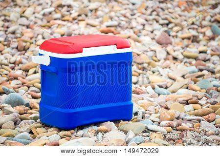 Cooler box in Australian Flag colors on Australia Day picnic