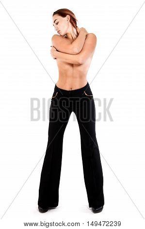 Topless Redhead Woman