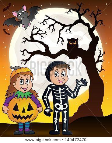 Halloween costumes theme image 5 - eps10 vector illustration.