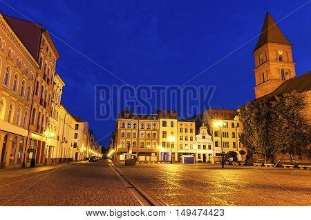 Holy Trinity Church on New Market Square in Torun. Torun Kuyavian-Pomeranian Poland