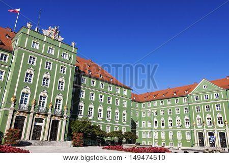 Szczecin City Hall. Szczecin West Pomeranian Poland