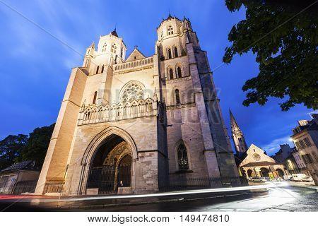 St Benigne Cathedral in Dijon. Dijon Burgundy France