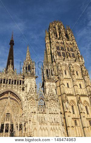 Rouen Cathedral Notre Dame Rouen Normandy France