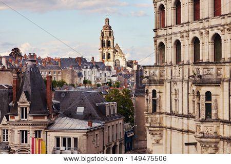 Saint-Louis Cathedral in Blois. Blois Pays de la Loire France