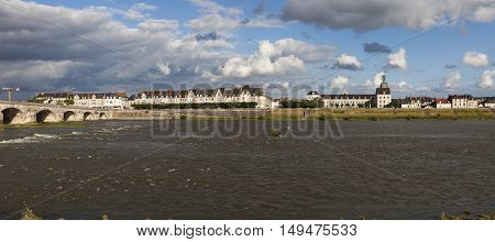 Jacques Gabriel Bridge in Blois. Blois Pays de la Loire France