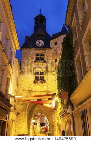 L'Horloge Tower in Amboise. Amboise Pays de la Loire France