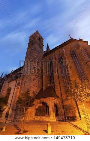 St. James's Church in Rothenburg. Rothenburg Bavaria Germany