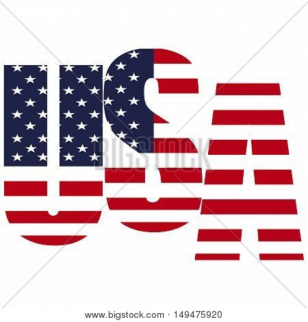 USA vector symbol illustration on white background