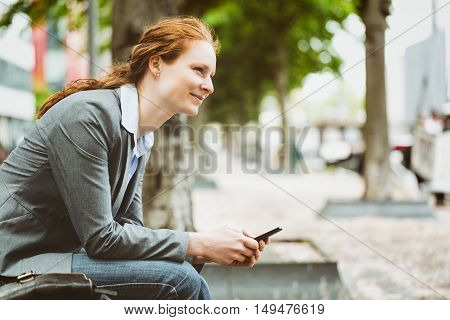 Young Entrepreneur With A Mobile Phone