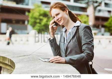 Young Entrepreneur On The Phone