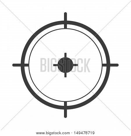 Sniper Sight Icon. Sniper Sight Vector Isolated On White Background. Flat Vector Illustration In Bla