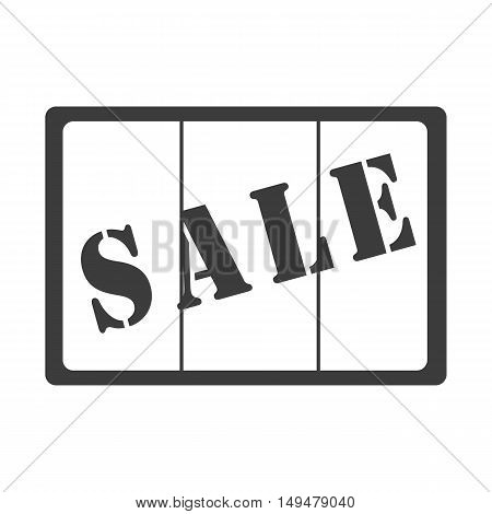 Sale Caught Behind Bars Icon. Sale Caught Behind Bars Vector Isolated On White Background. Flat Vect
