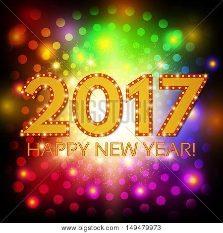 Happy New 2017 Year Season Background