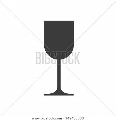 Wine Glass Icon Vector. Flat Icon Wine Glass. Flat Vector Illustration For Web And Mobile. Vector Wi