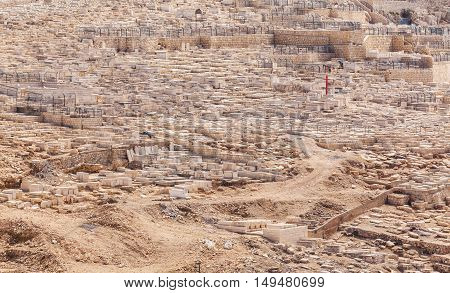 Ancient Cemetery At Olives Mountain, Jerusalem