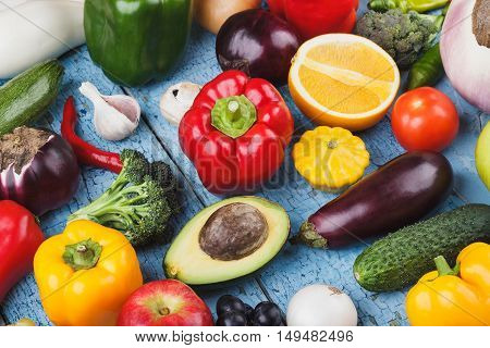 Set Of Vegetables In The Tray, Wooden Background