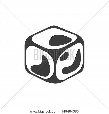 Ice cube icon. Ice cube Vector isolated on white background. Flat vector illustration in black. EPS 10