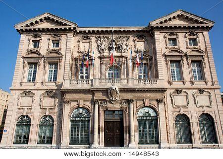 The Hotel de Ville de Marseille.