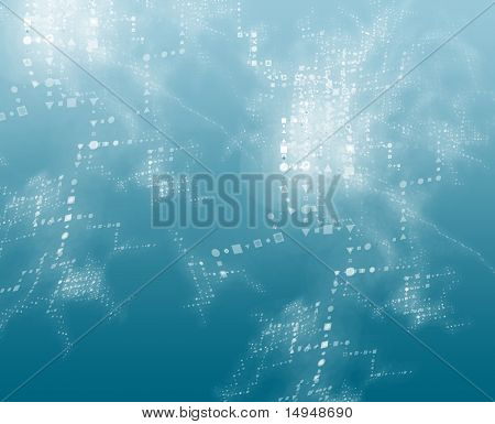 Abstract background of technical data information interchange