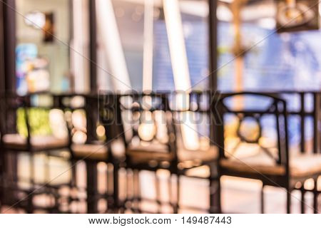 image of blur cafe with bokeh background