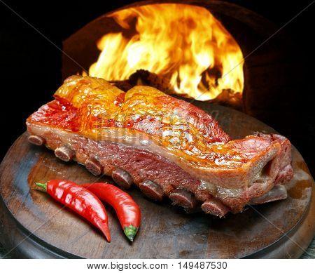 rib pork smoked