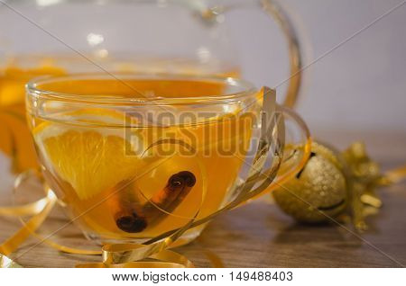 Citrus Tea With Cinnamon Sticks
