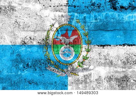 Flag Of Rio De Janeiro State, Brazil, Painted On Dirty Wall