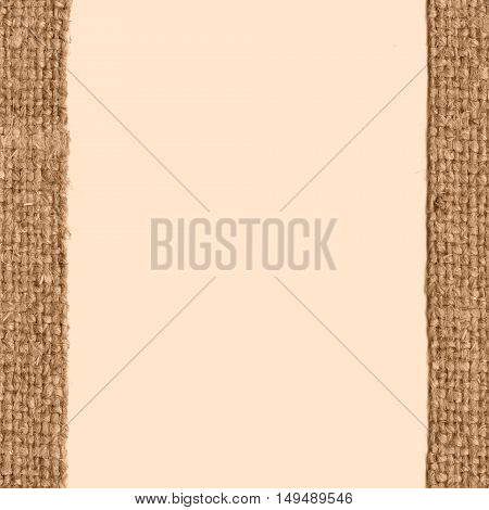 Textile yarn fabric image fawn canvas stained material blank background