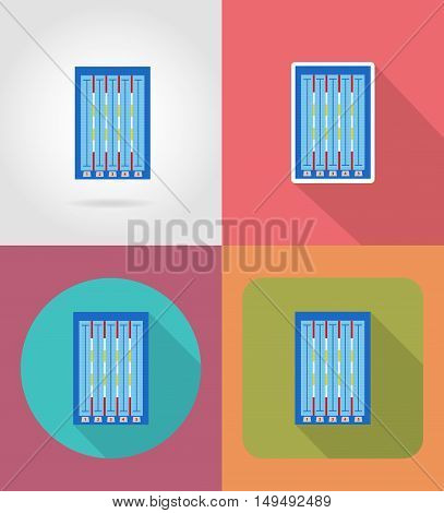 swimming pool flat icons vector illustration isolated on background