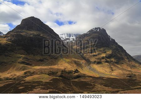 Mountains In Highland, Scotland